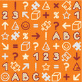 Seamless educational (back to school) pattern Royalty Free Stock Photo