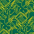 Seamless electronic pattern Stock Photo