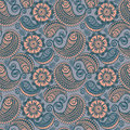 Seamless elegant paisley pattern Royalty Free Stock Photos