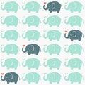 Seamless elephant fabric pattern