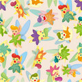 Seamless elf pattern Royalty Free Stock Photography