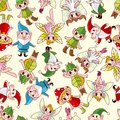 Seamless elf pattern Stock Image