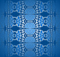 Seamless ellipses ornaments azure and dark blue with silver gray blurred
