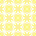 Seamless embroidered texture of abstract patterns for cloth