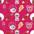 Seamless emo pattern Royalty Free Stock Photo