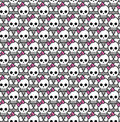 Seamless emo skulls pattern Royalty Free Stock Images