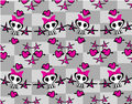 Seamless emo skulls pattern illustration Stock Images