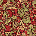 Seamless ethnic doodle pattern Stock Images