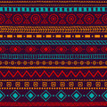 Seamless ethnic ornament. Aztec and tribal motifs. Ornament draw
