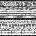 Seamless ethnic pattern. Black and white illustration.