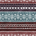 Seamless ethnic pattern. Colorful geometric vector ornament. Royalty Free Stock Photo