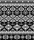 Seamless Ethnic pattern design. Navajo geometric print. Rustic decorative ornament. Abstract geometric pattern.