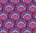 Seamless ethnic pattern with floral motives. Mandala stylized print template for fabric and paper. Boho chic design