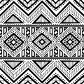 Seamless ethnic pattern. Ornament hand-drawn ink. Tribal motifs.