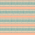 Seamless ethnic pattern in pastel orange and blue Stock Photography