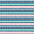 Seamless ethnic pattern in pastel pink an blue Royalty Free Stock Images