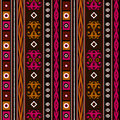Seamless ethnic pattern texture turquoise, brown, red ,orange on bright background. Royalty Free Stock Photo