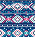 Seamless Ethnic pattern textures. Native American pattern. Pink and Blue colors