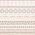 Coffee seamless pattern mexico vector brown ethnic tribal mexican textures in caramel color