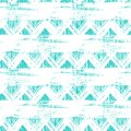 Seamless ethnic zigzag pattern with brushstrokes vector bold and stripes in bright aqua blue color can be used for print wallpaper Stock Images