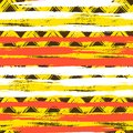 Seamless ethnic zigzag pattern with brushstrokes vector bold and stripes in bright colors can be used for print wallpaper summer Royalty Free Stock Photo