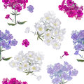 Seamless exotic floral fashion pattern tropical wallpaper Stock Photo