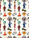 Seamless f1 pattern Stock Photo