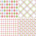 Seamless fabric patterns Royalty Free Stock Photo