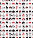 Seamless face pattern Royalty Free Stock Image