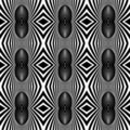 Seamless fancy pattern with zebra motif. Royalty Free Stock Photo