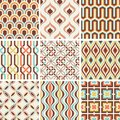 Seamless fashion nostalgic geometric pattern
