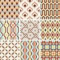 Seamless fashion nostalgic geometric pattern Royalty Free Stock Photo