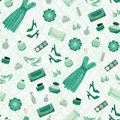 Seamless fashion pattern Royalty Free Stock Image