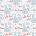 Seamless fashion pattern Stock Photography