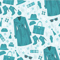 Seamless fashion pattern Royalty Free Stock Images