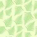 Seamless fern background leaves in pastel colors Royalty Free Stock Photography