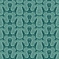 Seamless fir pattern Stock Photos