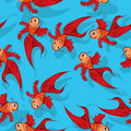 Seamless fish pattern Royalty Free Stock Photography