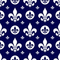 Seamless Fleur de Lys Tile [1] Royalty Free Stock Photo