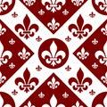 Seamless Fleur de Lys Tile [2] Royalty Free Stock Photo