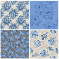 Seamless floral background beautiful set for your design and scrapbook in Stock Photos