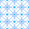 Seamless floral  background.  blue flowers and lace orna Royalty Free Stock Photo