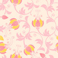 Seamless floral background excellent in gentle colors Stock Photos