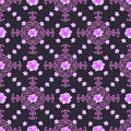 Seamless floral  background. Isolated lilac roses flowers and la Royalty Free Stock Photo