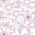 Seamless floral background pattern Royalty Free Stock Images