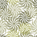 Seamless floral background in stringart mode Royalty Free Stock Images
