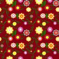 Seamless floral background. vector Royalty Free Stock Images