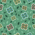 Seamless floral background vector illustration of Stock Image