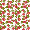 Seamless floral background with wild rose this is file of eps format Stock Photos