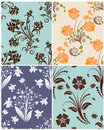 Seamless floral backgrounds set Royalty Free Stock Photos
